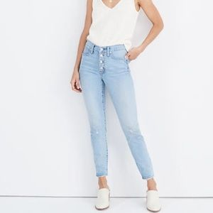 Madewell Light Wash Hi-Rise Skinny Button-up Jeans